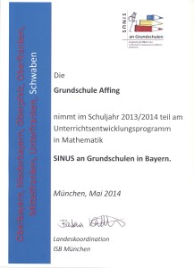 Urkunde SINUS 2014 001